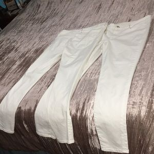 American Eagle white jeggings size 12